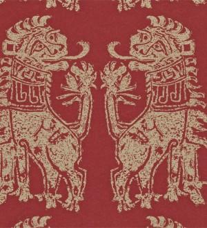 Papel pintado leones diseño griego artísticos Shabby Chic Daimaru 565452