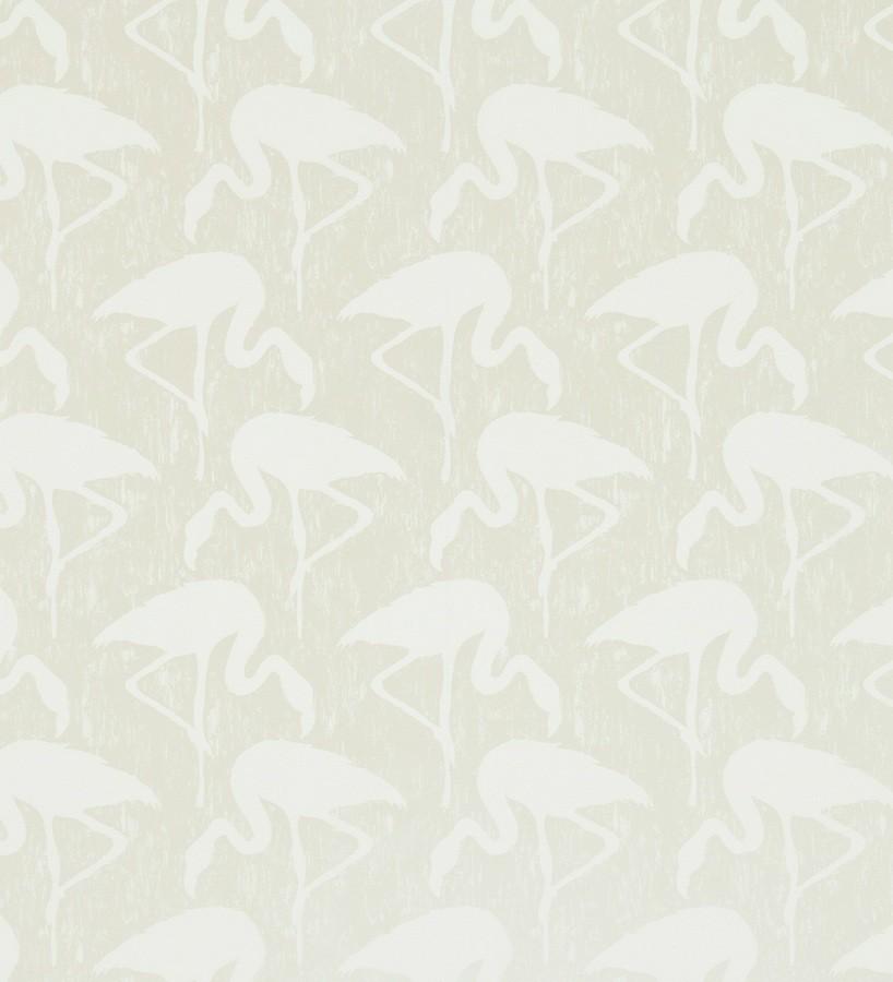 Papel pintado flamencos vintage beige claro fondo beige claro Flamant 565463