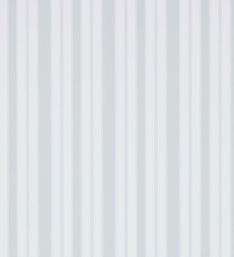 Papel pintado rayas clásicas gris claro fondo blanco roto Raya Flamant 565477