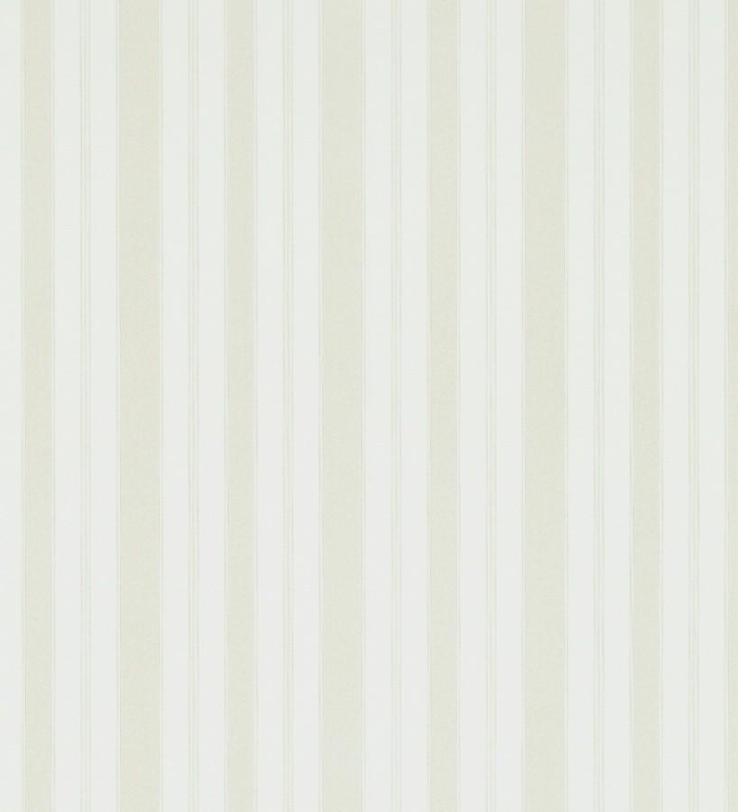 Papel pintado rayas clásicas beige claro fondo blanco roto Raya Flamant 565478