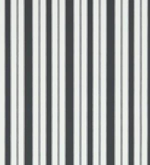 Papel pintado rayas clásicas negro fondo blanco roto Raya Flamant 565479