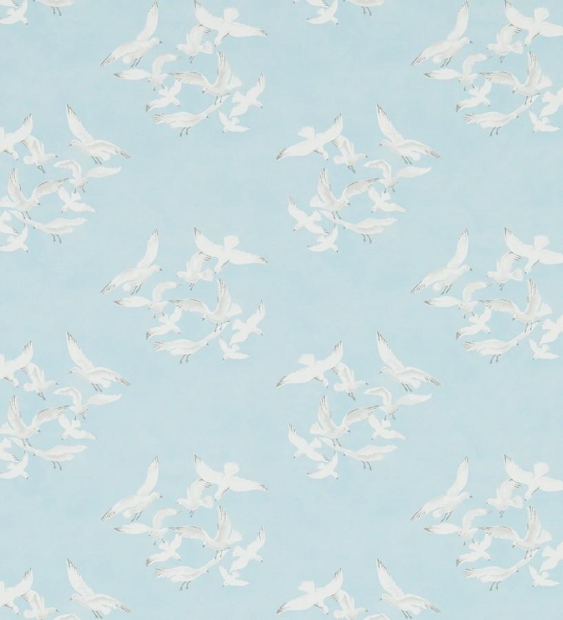 Papel pintado gaviotas artísticas vingate fondo gris claro Dubia 565483