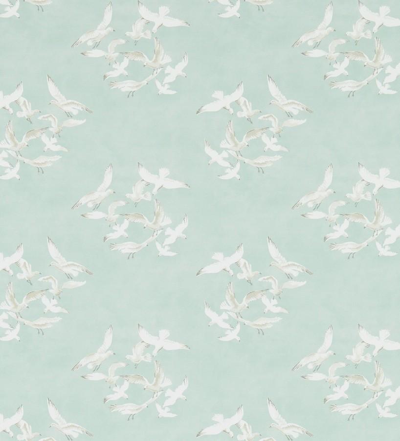 Papel pintado gaviotas artísticas vingate fondo gris claro Dubia 565484