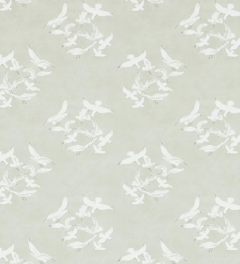 Papel pintado gaviotas artísticas vingate fondo beige grisáceo Dubia 565485