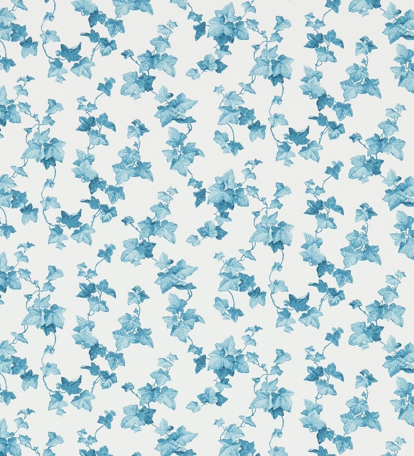 Papel pintado hojas de enredadera artísticas azul grisáceo claro Rivina 565492