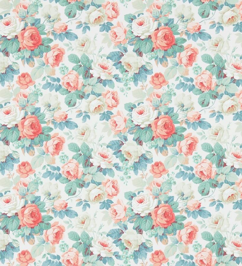 Papel pintado flores románticas vintage al óleo Bromelia 565503