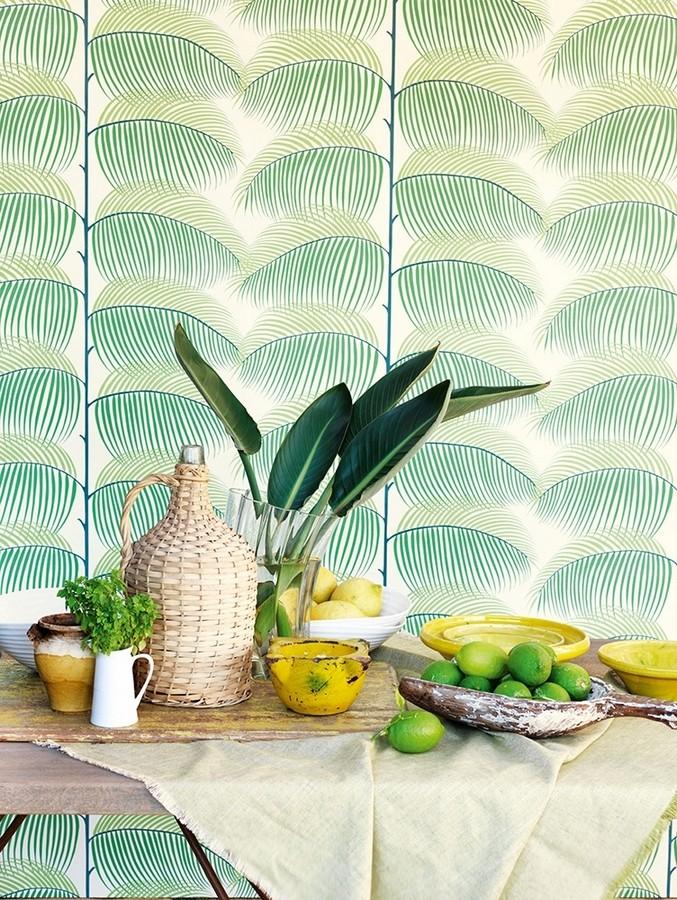 Papel pintado hojas de helecho estilo tropical Biconia 565510