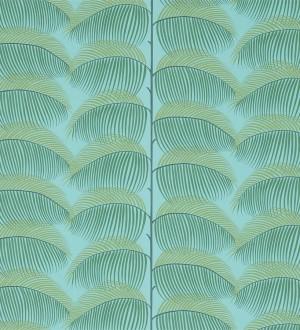 Papel pintado hojas de helecho estilo tropical Biconia 565516