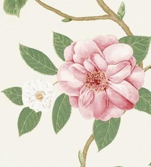 Papel pintado flores grandes al óleo románticas vintage Dalva 565517