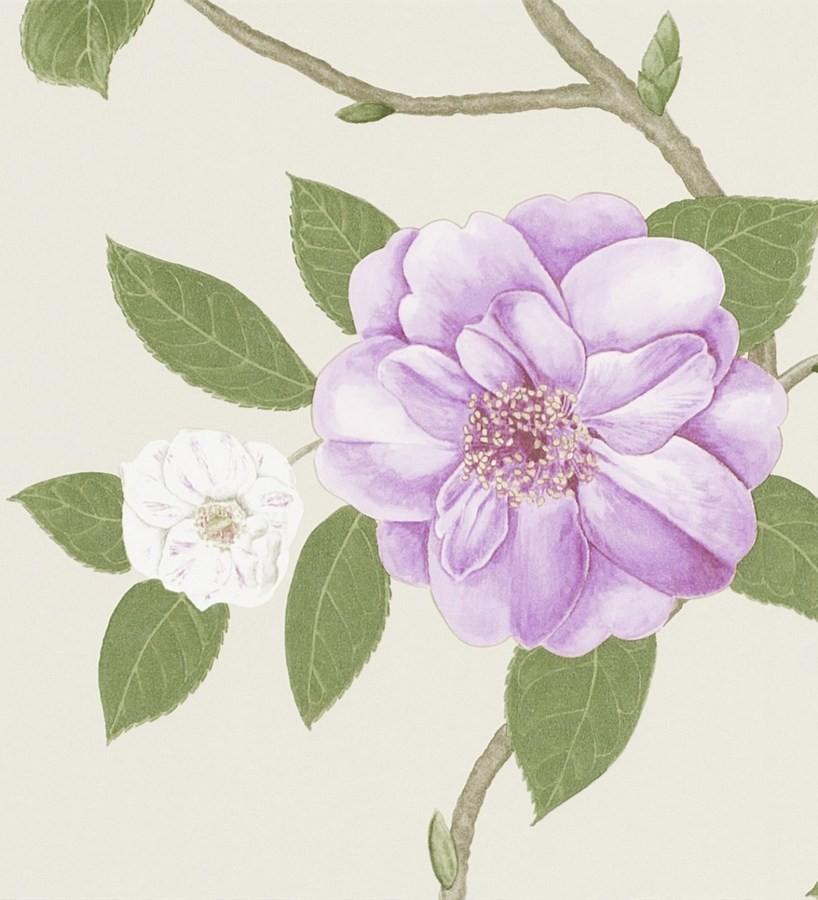 Papel pintado flores grandes al óleo románticas vintage Dalva 565518