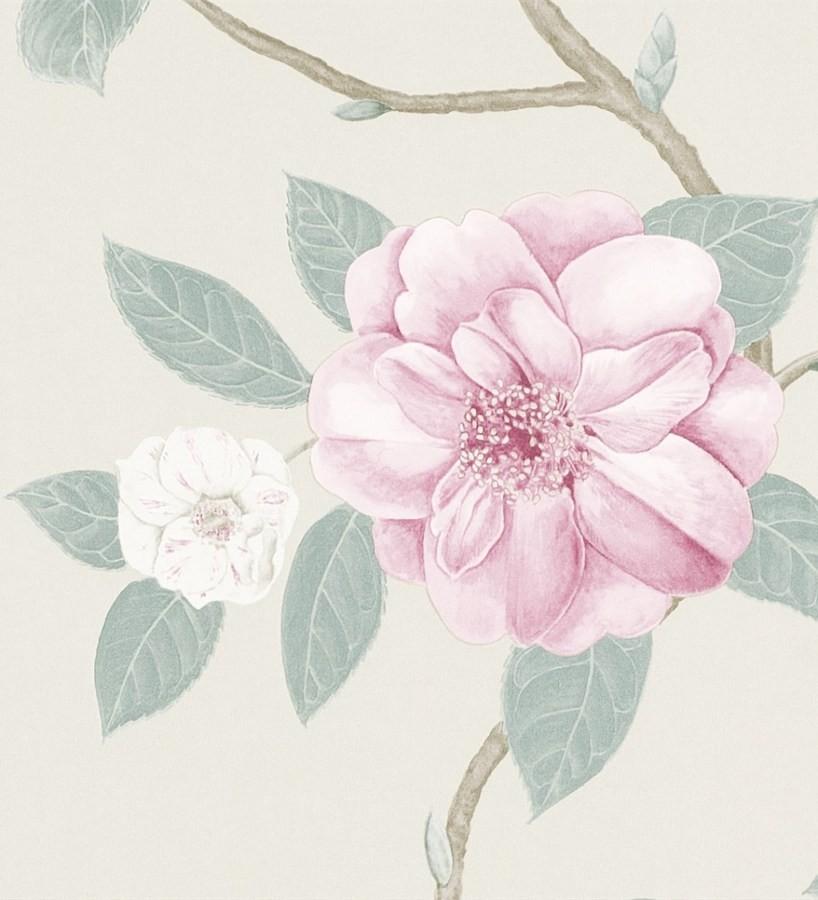 Papel pintado flores grandes al óleo románticas vintage Dalva 565519