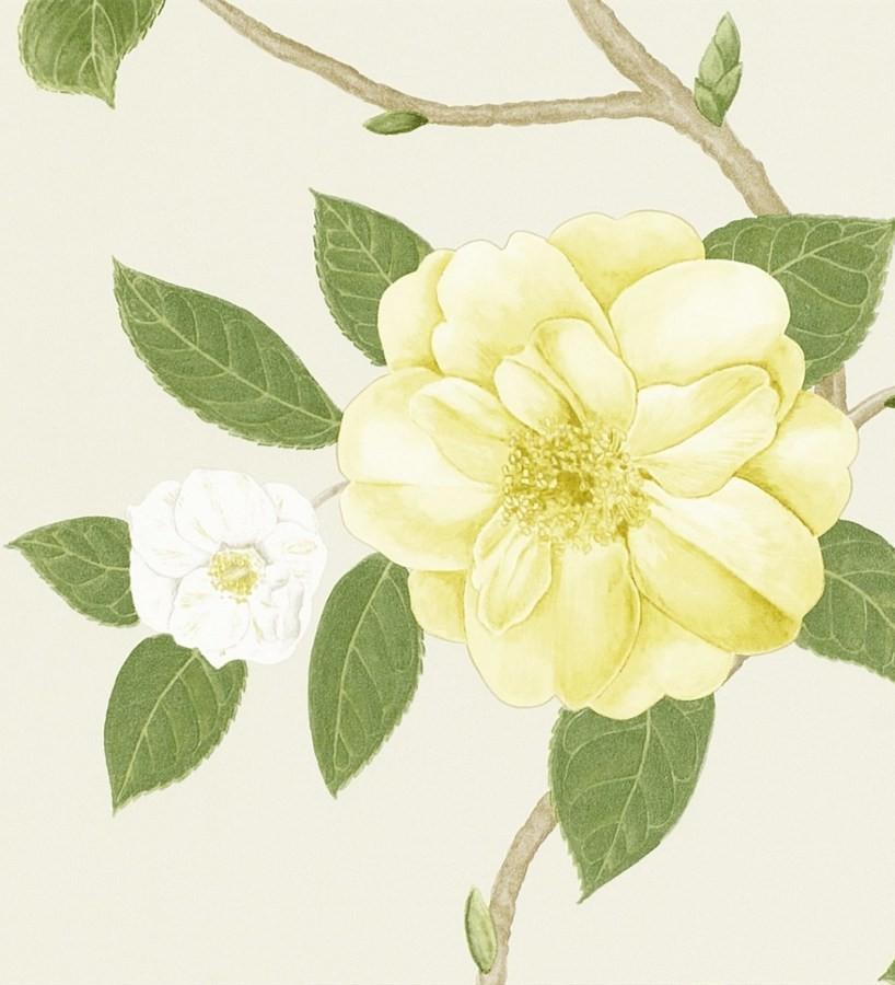 Papel pintado flores grandes al óleo románticas vintage Dalva 565520