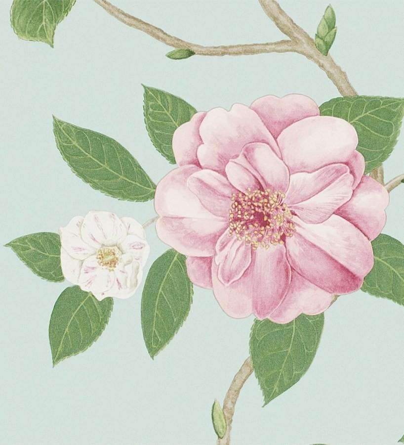 Papel pintado flores grandes al óleo románticas vintage Dalva 565521