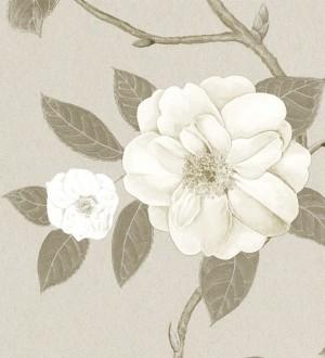 Papel pintado flores grandes al óleo románticas vintage Dalva 565522