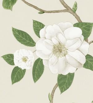 Papel pintado flores grandes al óleo románticas vintage Dalva 565523