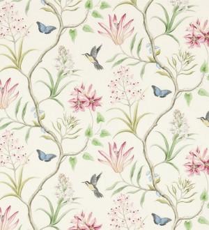 Papel pintado mariposas y colibrís con naturaleza artística Dorothy 565531