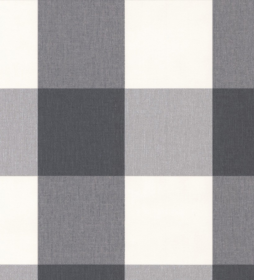 Papel pintado cuadros escoceses negro y blanco estilo inglés Connor 451842