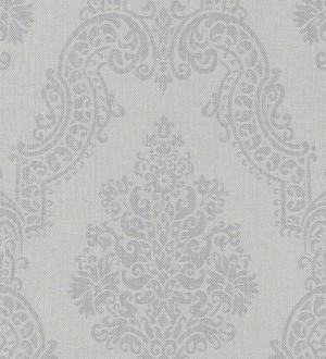 Papel pintado damasco vintage gris claro fondo textil Vittorio 451868