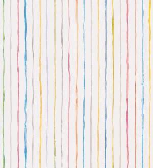 Papel pintado rayas de acuarela infantiles Raya Watercolor Stains 452205
