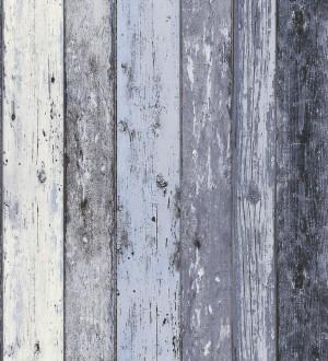 Papel pintado imitaci n madera decapada turquesa estilo - Papel pintado imitacion madera ...