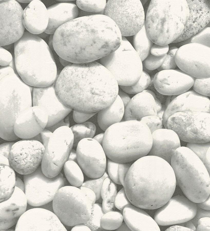 Papel pintado piedras de río estilo minimalista fotográfico Ebro 453160