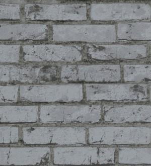 Papel pintado industrial imitación ladrillo gris marengo Nevada 453170