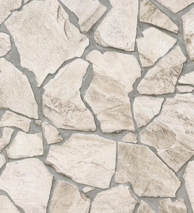 Papel pintado muro de piedra moderno superlavable vinílico Calize 453182
