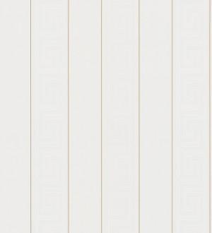 Papel pintado rayas finas doradas friso romano blanco Raya Flavio 453388