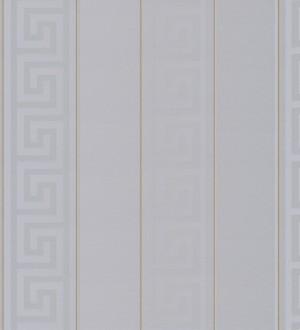 Papel pintado rayas finas doradas friso romano gris Raya Flavio 453391