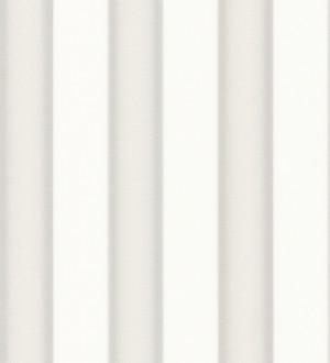 Papel pintado rayas modernas plata metalizado y blanco Raya Saltanis 453402