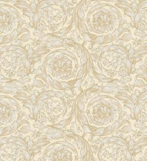 Papel pintado barroco italiano beige crema de lujo Orsini 453428