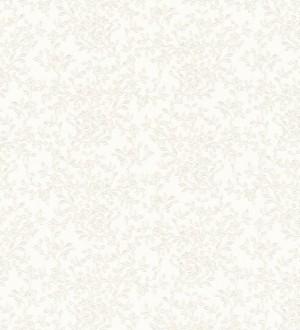 Papel pintado flores románticas blancas estilo inglés Lulú 453433