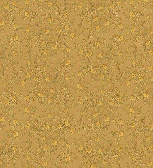 Papel pintado flores románticas dorado viejo estilo inglés Lulú 453434