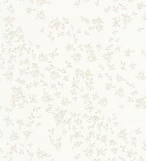 Papel pintado flores vintage blancas con estilo Florencia 453437