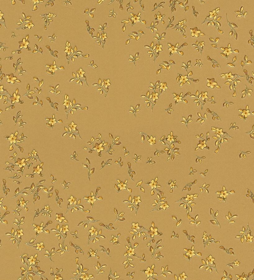 Papel pintado flores vintage doradas con estilo florencia 453438 - Papel pintado estilo vintage ...