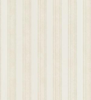 Papel pintado rayas clásicas blanco nacarado Raya Fancelli 453444