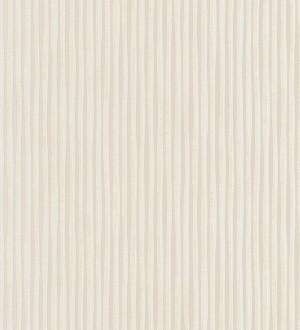 Papel pintado rayas finas blanco metalizado Raya Lulú 453448