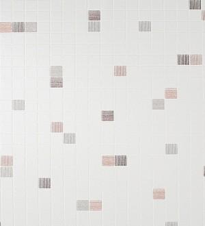 Papel pintado azulejo gresite para baños y cocinas negro Ganges 453822