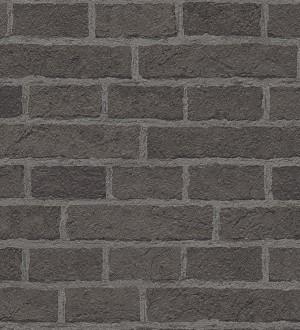 Papel pintado urbano muro de ladrillo industrial gris oscuro Denver 453845