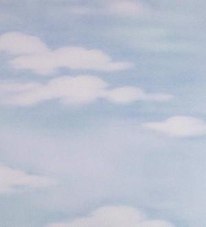 Papel pintado nubes artísticas blanco fondo celeste grisáceo Rodin 453847