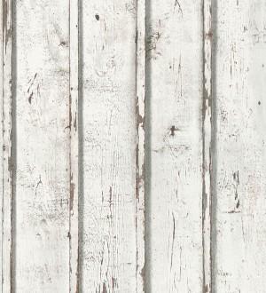 Papel pintado listones madera blanca decapada Zahora 453859