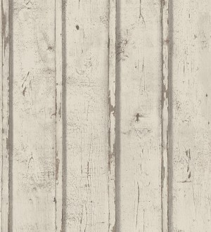 Papel pintado listones madera beige clara decapada Zahora 453860