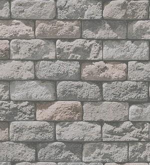 Papel pintado adoquines de piedra rústico tono beige Baltimore 453871
