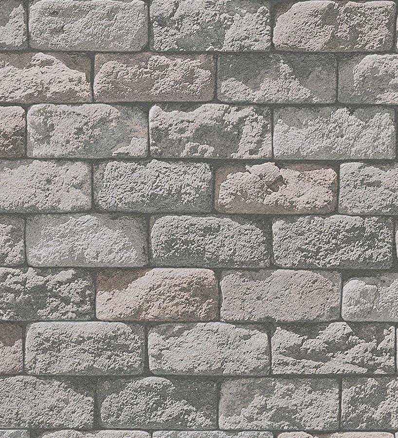 Papel pintado adoquines de piedra r stico tono beige baltimore 453871 - Papel pintado rustico ...