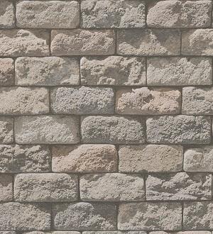 Papel pintado adoquines de piedra rústico tono beige Baltimore 453872