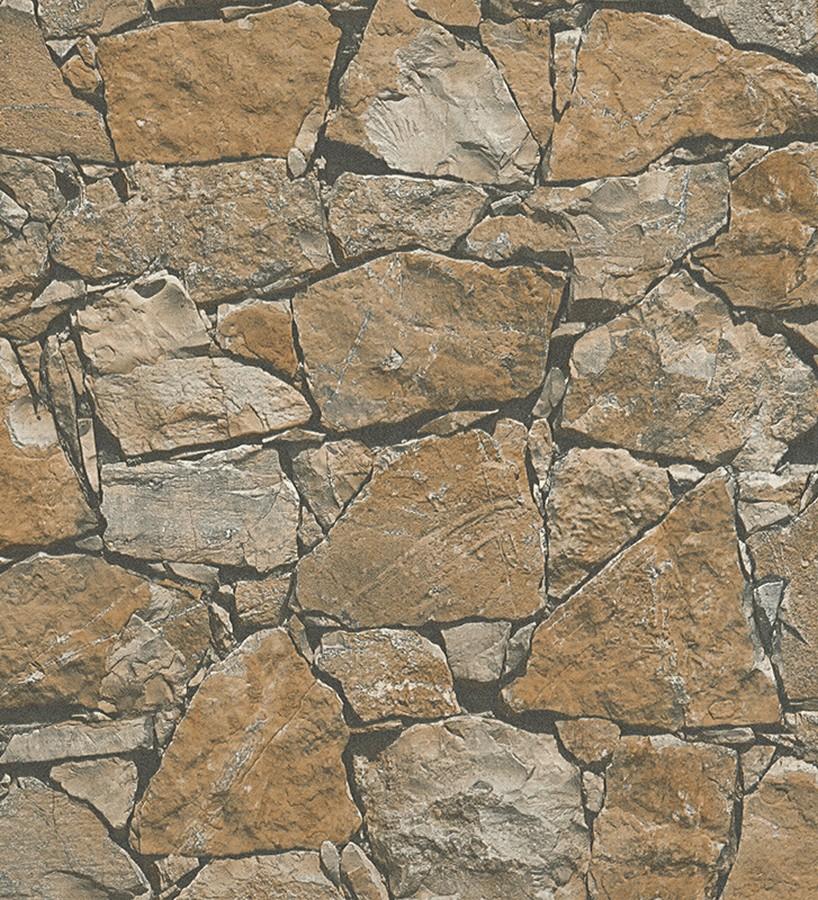 Papel Pintado Muro Rustico De Piedra Caliza Ovidio 453880 - Muro-piedra