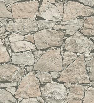 Papel pintado muro rústico de piedra caliza beige claro Ovidio 453881