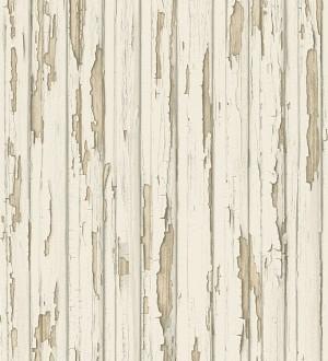 Papel pintado madera decapada beige claro estilo vintage Almate 453884