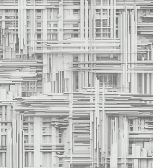 Papel pintado efecto 3D con estructuras abstractas Ludacris 454667
