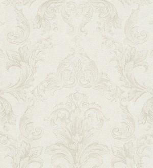 Papel pintado damasco Shabby Chic clásico blanco Eraldo 455814